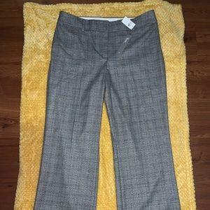 NWT LOFT• Plaid Trousers